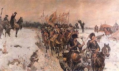 Zamordowanie stronnika krolewskiego, pulkownika wojsk koronnych Oldakowskiego przez Konfederatow 1662.